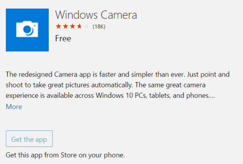 Windows Camera app for Windows 10 Mobile is updated