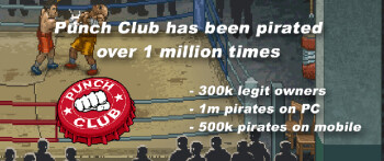Punch Club finds out most gamers pirated its game: 90  of mobile pirates were on Android