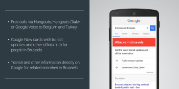 Belgium and Turkey terror attacks: Google makes Hangouts calls to the countries free, adds Now card with info