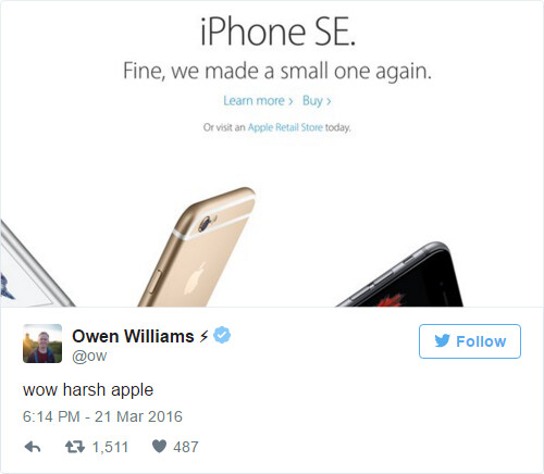 Funny iPhone SE tweets