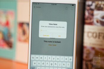 Notes in iOS 9.3 can be protected with a password or a scan of a fingerprint