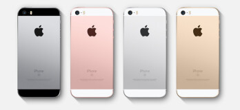 The iPhone SE comes in gray, rose gold, silver, or gold