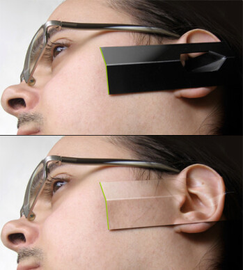 New concept uses camouflaging ear phone design