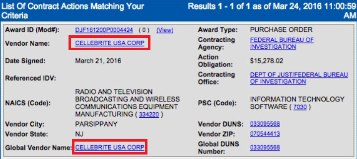 FBI paying Cellebrite $15,278 to open Syed Farook's Apple