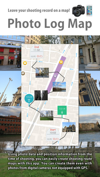 Canon Photo Log Map iOS app