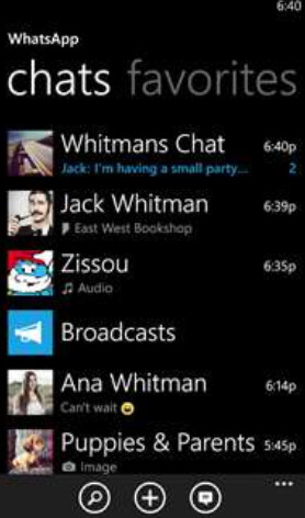 WhatsApp for Windows Phone has received an update