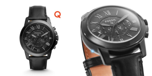 Fossil Q Grant Chronograph Black Leather - $195.00