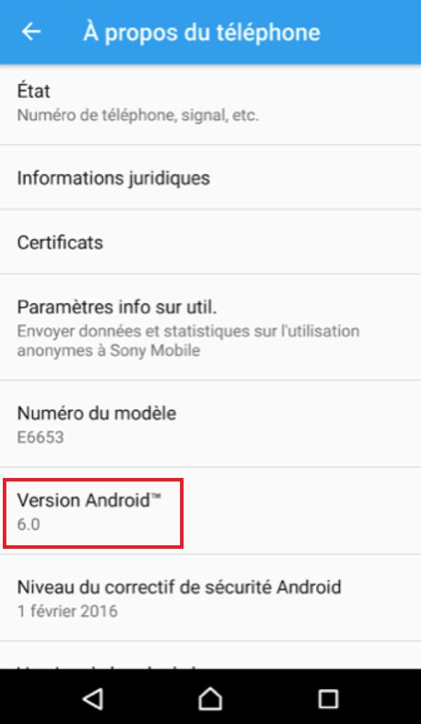 The Android 6.0 update for the Sony Xperia Z5...
