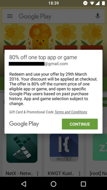 Lucky Google Play Store members in certain countries are receiving an 80% discount on the purchase of specific apps and games