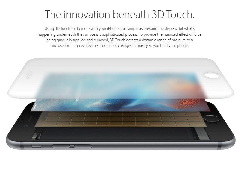 No 3D touch for iPhone SE