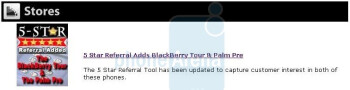 BlackBerry Tour to arrive in mid-August, while an e-mail mentions it and the Pre
