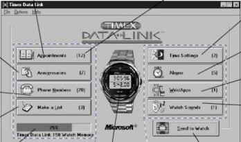 The Windows software used to sync the wearable.