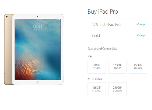 iPad Pro 9.7 has a 32GB Wi-Fi + Cellular model, faster LTE