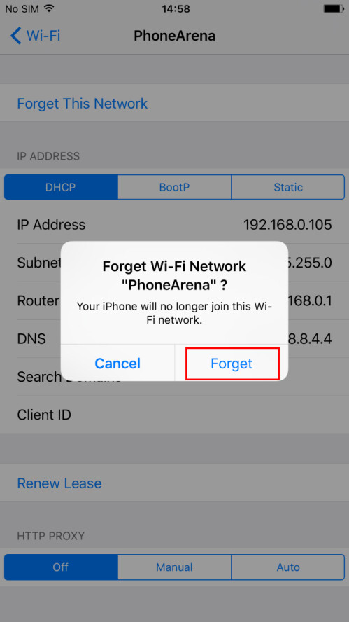 TAp on it and confirm that you indeed want to forget the network and you're done! Voila!