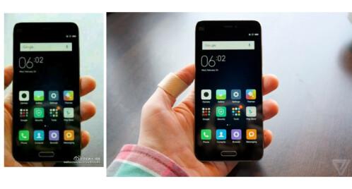The fake photo (left) versus the original Xiaomi Mi 5 image from The Verge