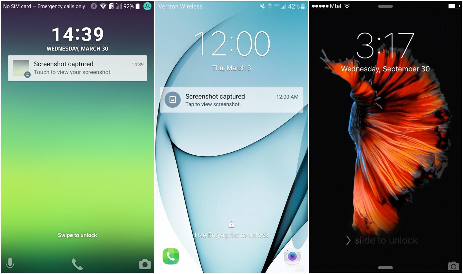Samsung galaxy s7 vs lg g5 vs apple iphone 6s vs samsung galaxy s6 - Lg G5 Lg Ux Vs Samsung Galaxy S7 Touchwiz Vs Apple Iphone 6s Ios 9 Lockscreens
