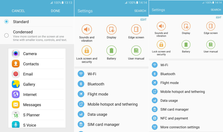 How to make Galaxy S7 or S6 fit more content on the screen the easy way (DPI scale, no root)