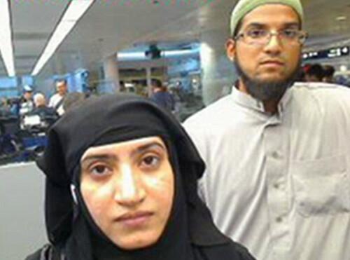 Deceased terrorists Tashfeen Malik (L) and her husband Syed Farook