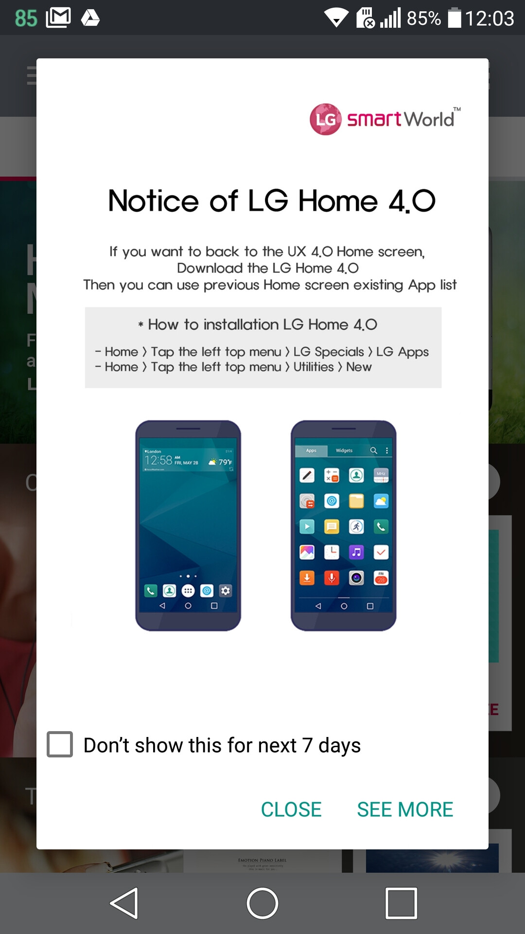 LG Launcher Android App Drawer - PhoneArena