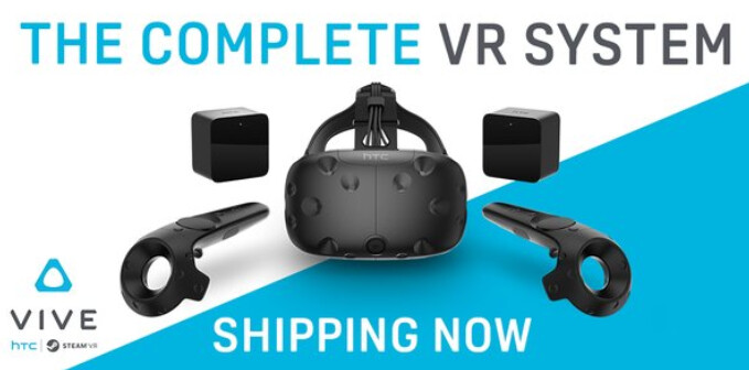 The HTC Vive VR system starts shipping today - HTC Vive VR system starts shipping today