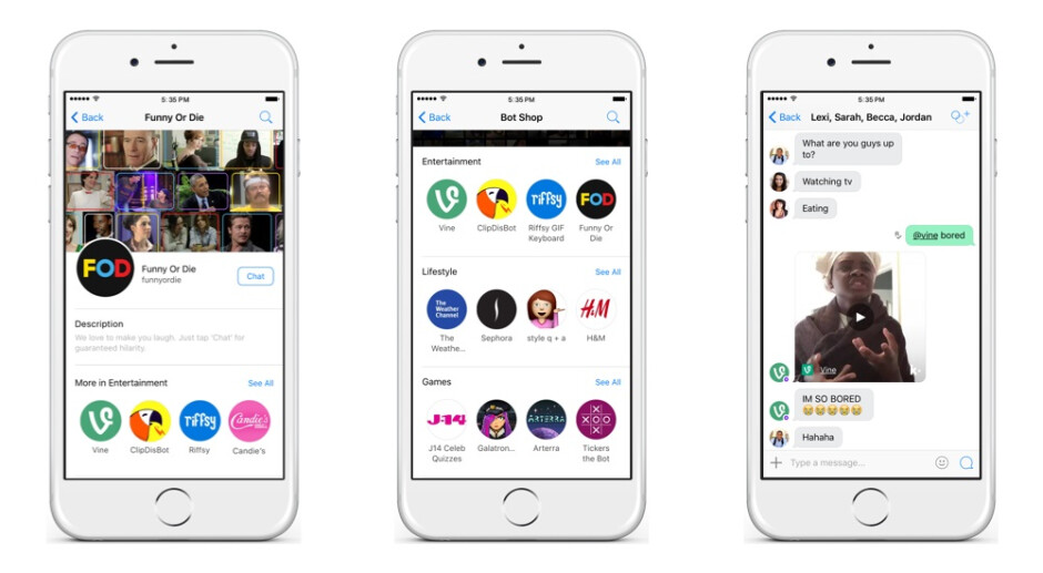 Kik is a messaging app with bots that give you funny videos and style suggestions