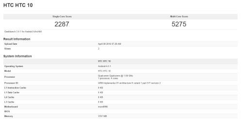 HTC 10 specs leak
