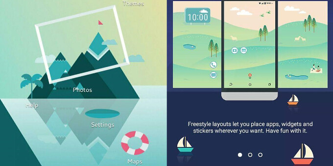 HTC's Sense 8 UI leaks in screenshots, might arrive with 'Freestyle' home screen layouts