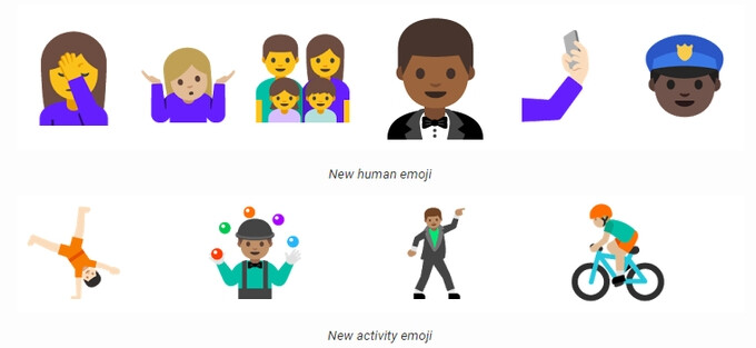 The new emoji in Android N - Google launches second Android N Preview complete with new Vulkan 3D rendering API