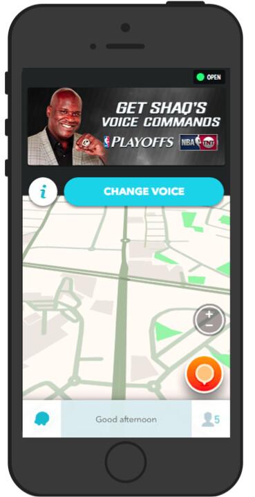 Waze adds Shaq's voice to navigation for NBA Playoffs