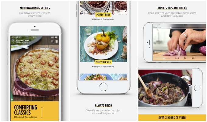 Jamie Oliver's cooking app for iOS gives you a wealth of guides and recipes from the pro himself