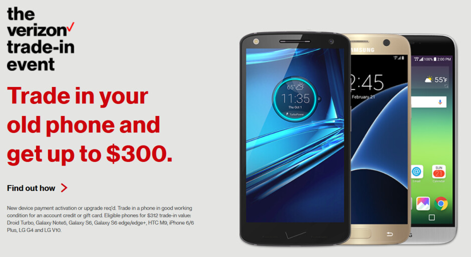 Verizon's national trade-in event starts today - Verizon's national trade-in event starts now; grab a Galaxy S7, LG G5 or iPhone 6s at a great price