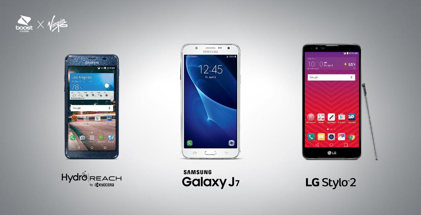 Kyocera Hydro Reach LG Stylo 2 And Samsung Galaxy J7