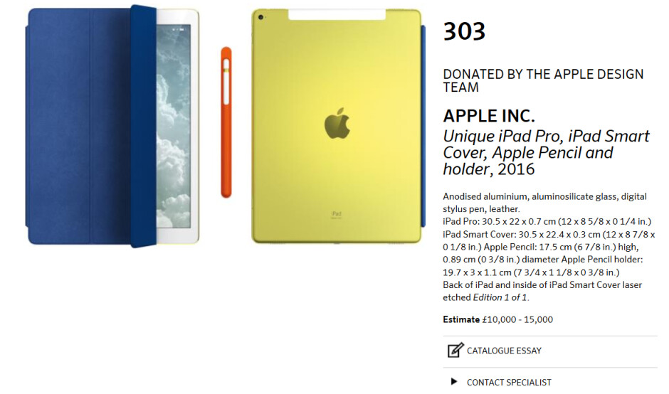 The Apple iPad Pro gets a special design by Ive and team - Apple built unique version of the iPad Pro for charity