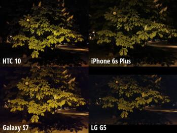 HTC 10 Vs IPhone 6s Plus, Galaxy S7, LG G5: Low Light Camera