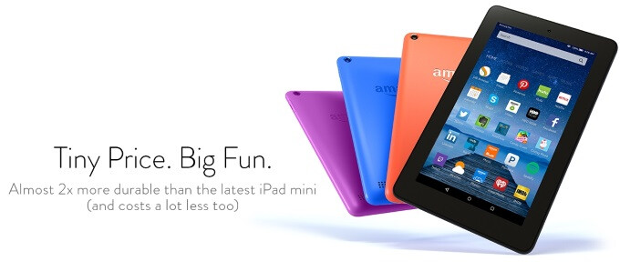 Amazon gives its budget Kindle Fire tablets 16GB of storage and new paintjobs