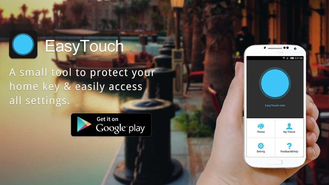 EasyTouch Android app navigation floating button Google free