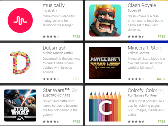 Here are the nominees for the 2016 Google Play Awards