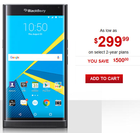 Rogers has the BlackBerry Priv on contract for the equivalent of $236.78 USD - This just might be the lowest on-contract price for the BlackBerry Priv to date