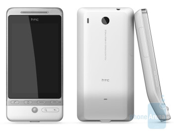 The HTC Hero in white sports a Teflon coating