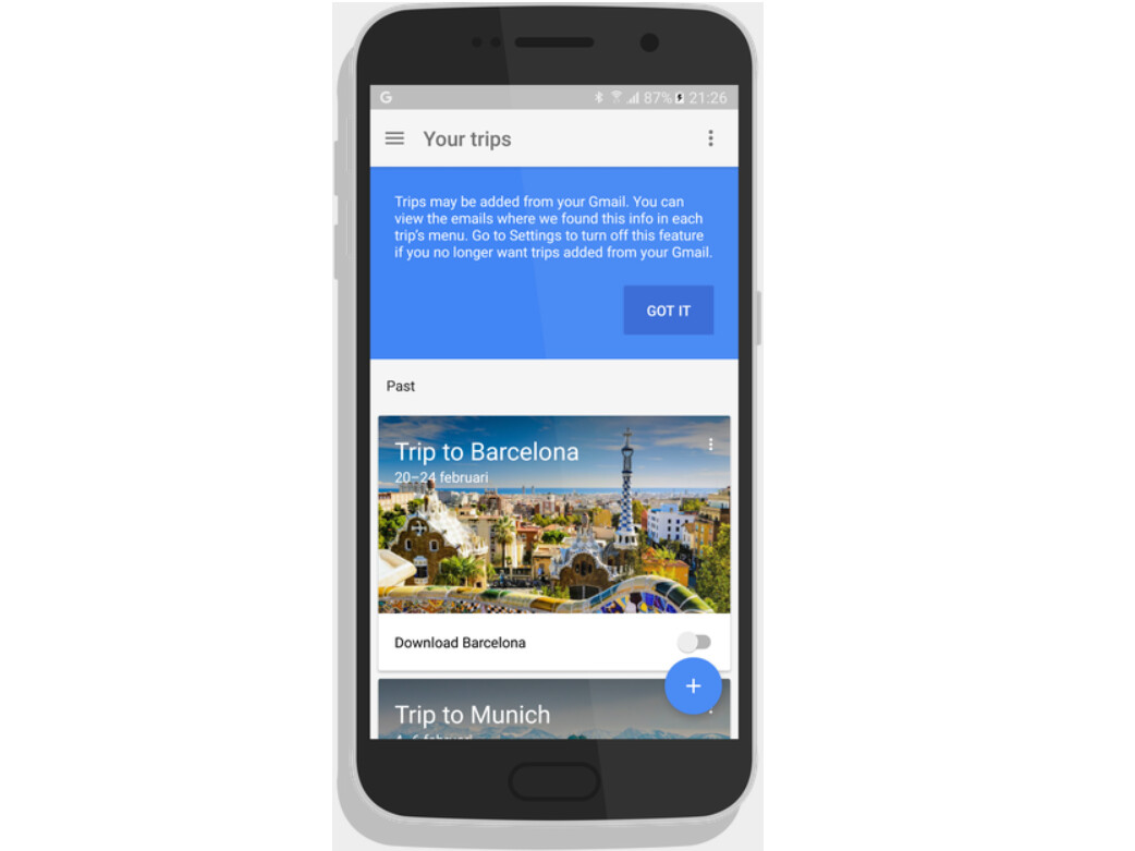 Google themes barcelona - Google Trips Will Soon Be Available From The Google Play Store Image From Google Trips Is A New Android App That Gives You Travel Tips And Helps You