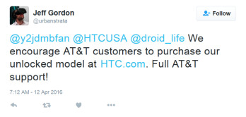 HTC's Jeff Gordon says that the unlocked HTC 10 will start shipping to the states next week