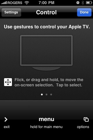 Remote app for the iPhone