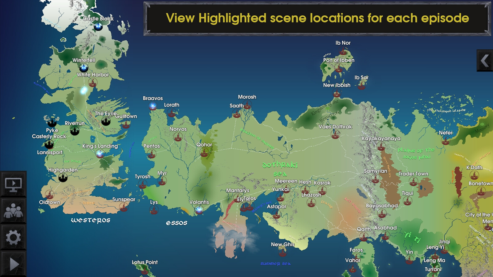 The Interactive Map for Game of Thrones app is a must-have ...