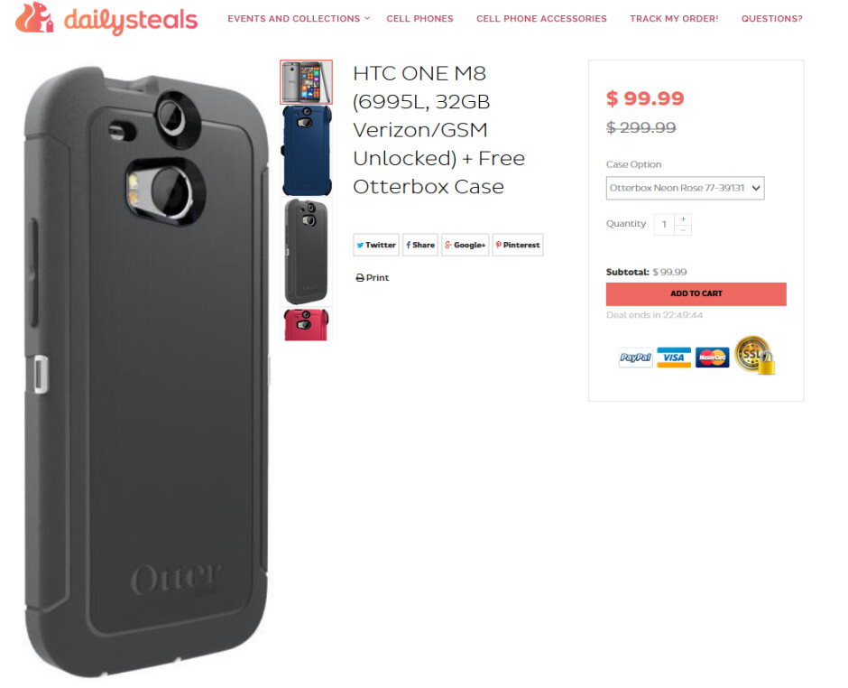Get a refurbished Verizon HTC One (M8) for Windows with an Otterbox case for $99.99 - Verizon's HTC One (M8) for Windows just $99 including Otterbox case; deal expires Sunday night