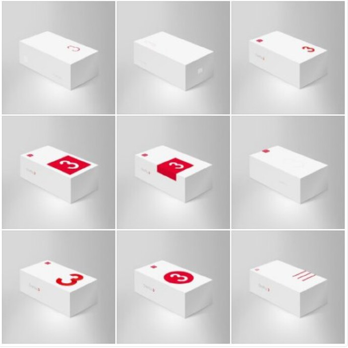 These are either the boxes under consideration for the OnePlus 3, or different markets will get different boxes - OnePlus 3 retail boxes pose for pictures
