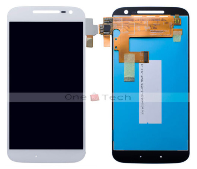 The Motorola Moto G4 digitizer is offered for sale on eBay in Germany - The front panel for the Motorola Moto G4 leaks on eBay Germany