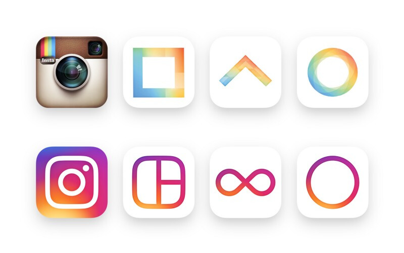 Instagram unveils colorful modern logos and new black and white design