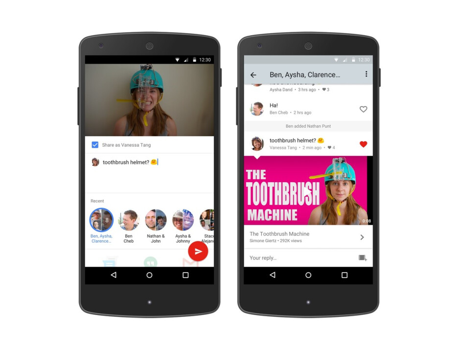YouTube builds native messaging to keep you locked in the app