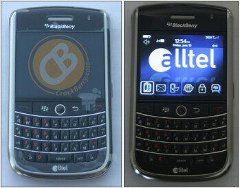 First photos to reveal an Alltel-branded BlackBerry Tour