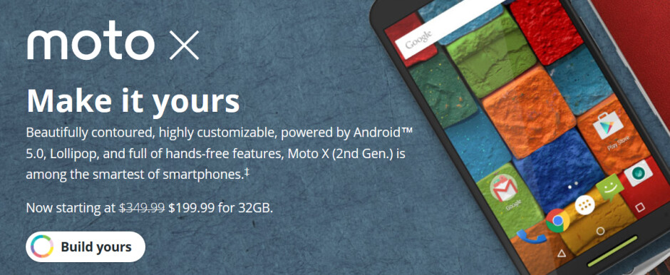From now to May 17th, use the coupon code SPRINGISHERE to receive an extra $50 off on the already discounted 32GB and 64GB Moto X (2014) - Until May 17th, use this coupon code to save $50 on the 32GB and 64GB Motorola Moto X (2014)